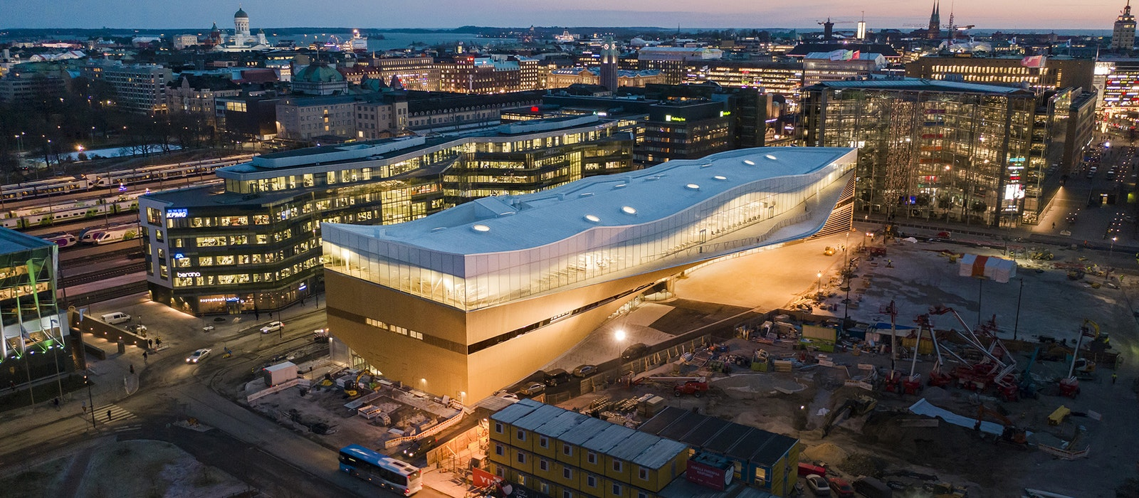 Designed by Finland's ALA Architects, Oodi is located in the heart of Helsinki.