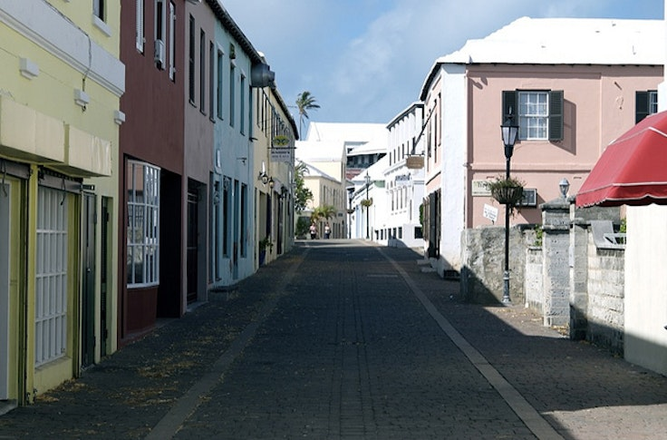 One of St. George's many colorful streets