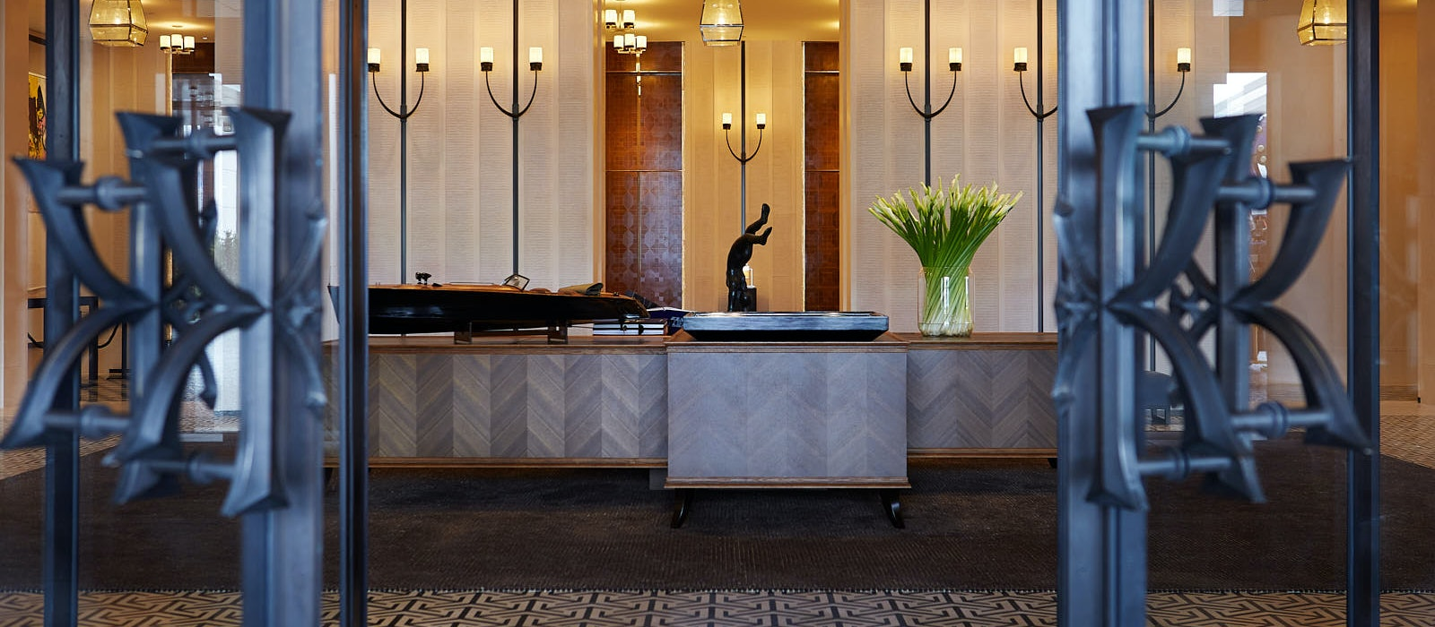 """Rosewood Hong Kong opened in March 2019 and, like all the brand's properties, its door handles have a unique """"seal of the house."""""""