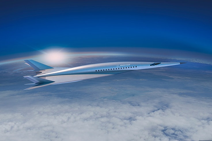 A concept of what Boeing's first hypersonic passenger jet could look like.