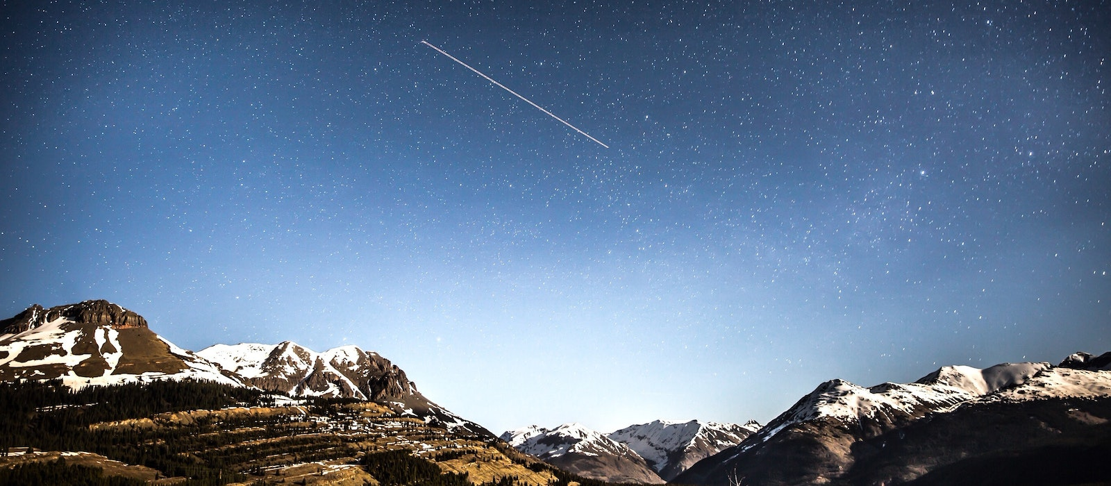 A shooting star over Durango, Colorado, where the weather is expected to be clear for January's Quadrantids meteor shower