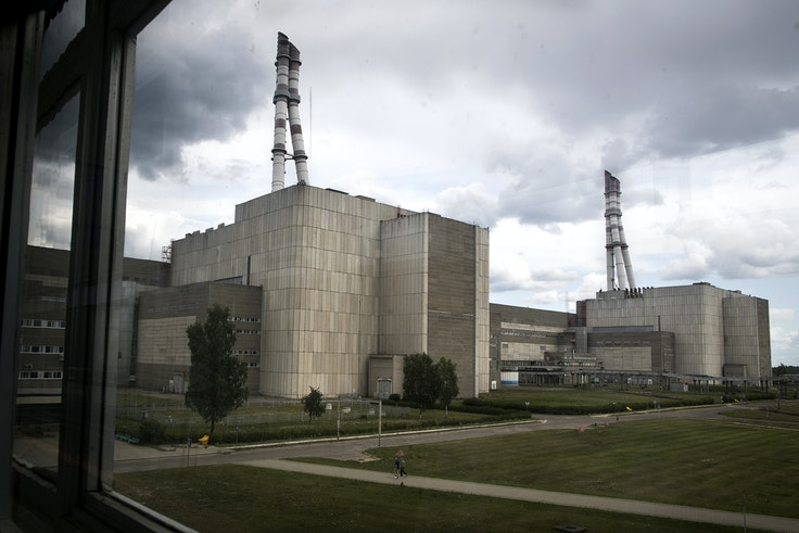 Part of the Ignalina nuclear power plant in Lithuania, where the miniseries was filmed