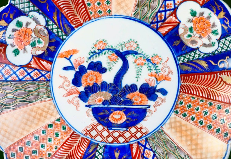 Arita, one of the best-known craft villages in Japan, has been producing its signature porcelain since the 17th century; this antique piece dates to around 1860.