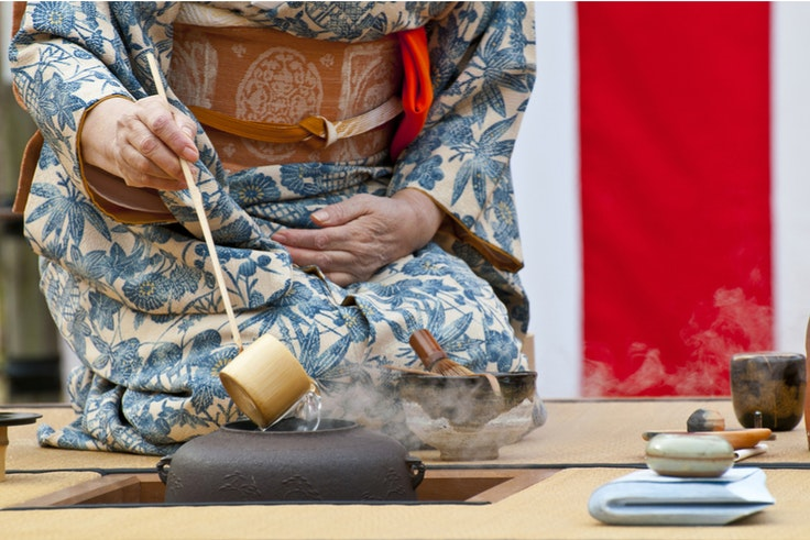 The tea ceremony represents the height of omotenashi, or the Japanese concept of hospitality.