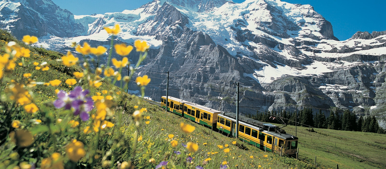 Jungfraujoch is a part of the Bernese Alps that connects two peaks: Mönch and Jungfrau.