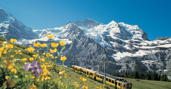 How to Take a Scenic Train Ride Through Switzerland