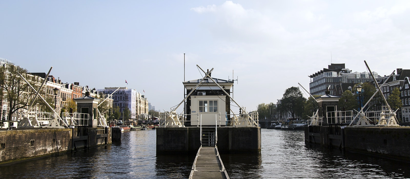 All of the 28 stand-alone units at the Sweets Hotel in Amsterdam are located within these former bridge keeper homes, located right on the canals.