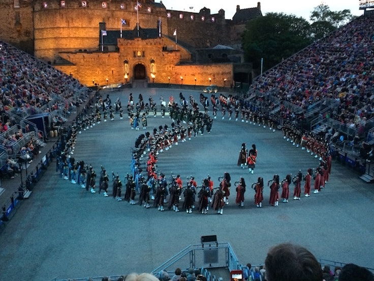 The Military Tattoo festival in Edinburgh