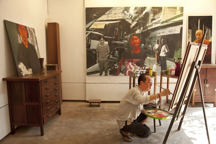 Lim Muy Theam runs the Theam's House, a multi-purpose gallery space in Siem Reap.