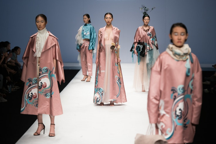 A catwalk show during China Graduate Fashion Week 2019 at School of Arts of Soochow University in Beijing