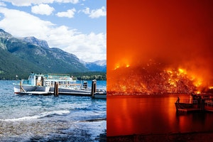 Wildfire in Glacier National Park Closes Scenic Road, Destroys Historic Buildings