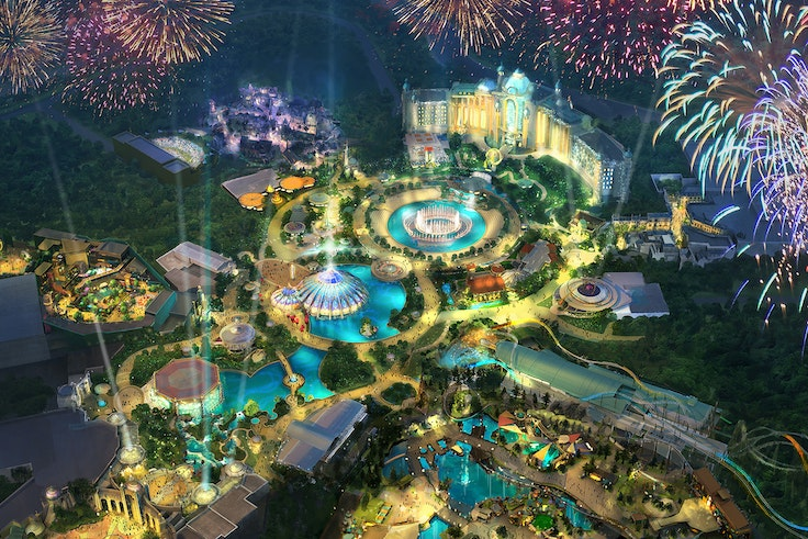 Universal released this concept art of the new theme park along with its official announcement.