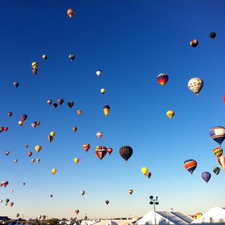 The Albuquerque International Balloon Fiesta in full swing.