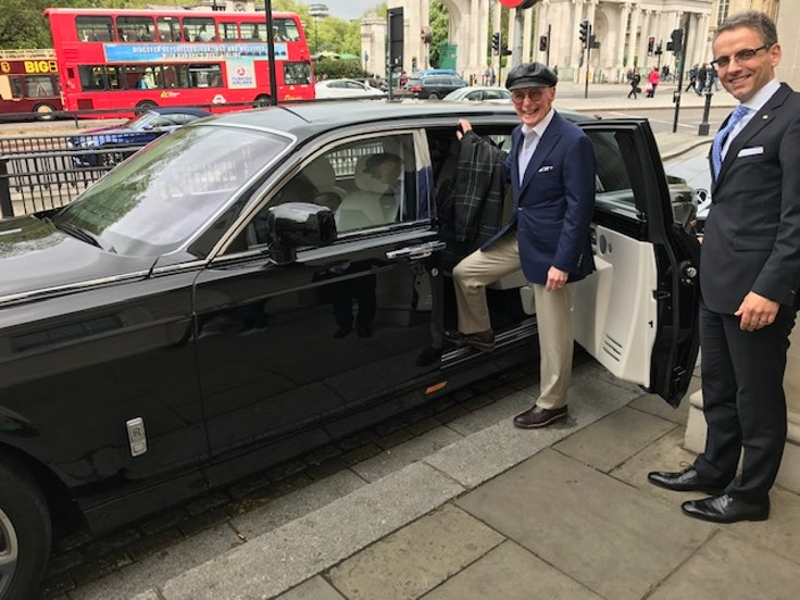 Travel advisor Bob Watson rides in style at The Lanesborough in London.