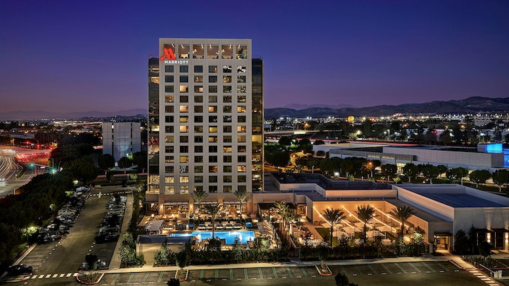The Marriott Irvine Spectrum in Irvine, California, is among the hotels that are united by Marriott's new Bonvoy program.