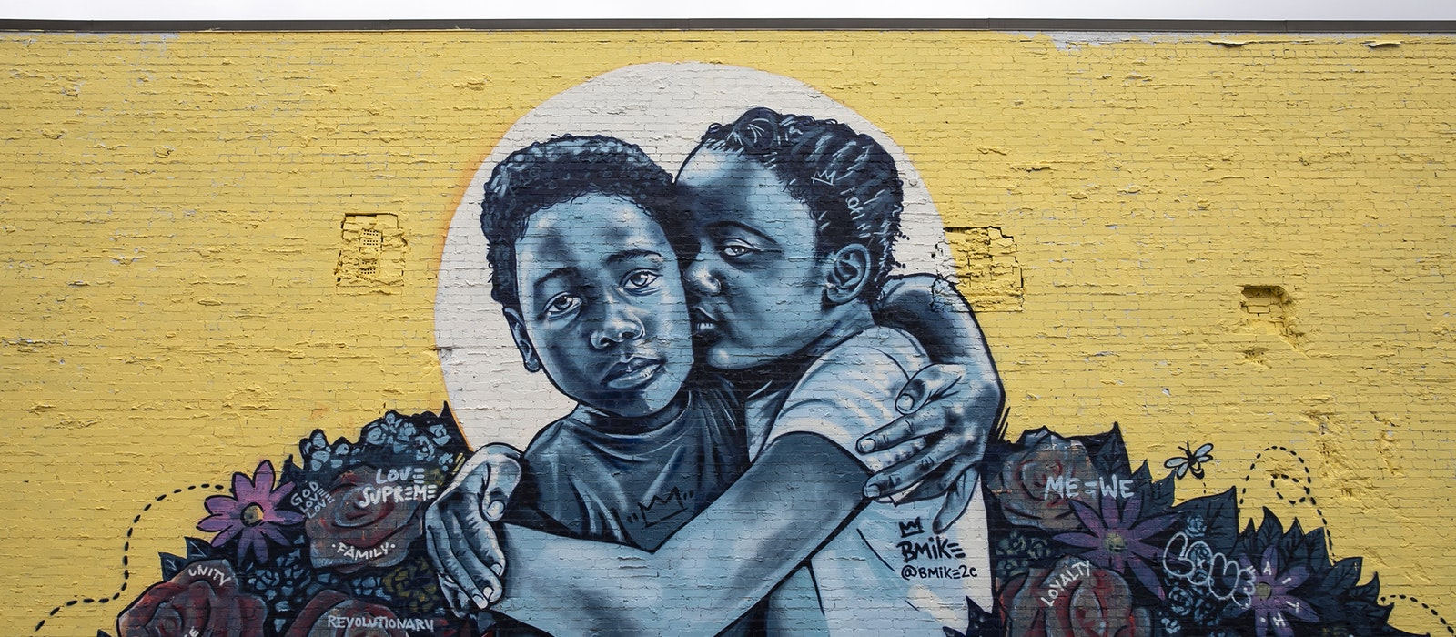 "As part of Off the Wall's mural project in Atlanta, New Orleans–based artist B Mike contributed two works, including ""Love & Protection"" responding to issues facing the next generation."