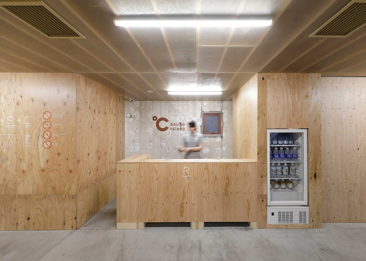 Do-C capsule hotel fuses Japanese and Scandinavian design aesthetics.