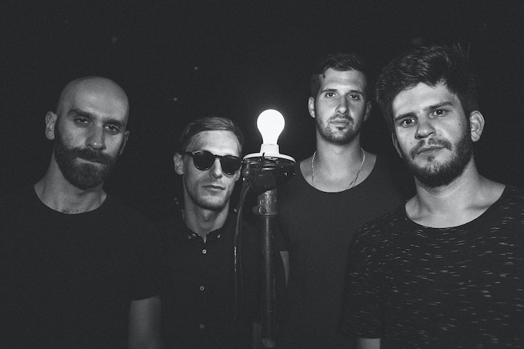The X Ambassadors (from left): Sam Harris, Casey Harris, Noah Feldshuh, and Adam Levin