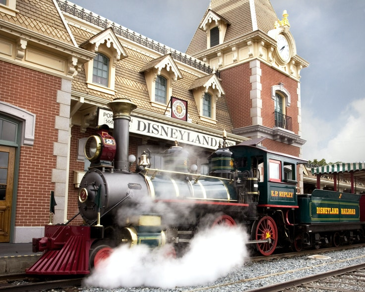 When you're with small kids, use the Disneyland Railroad as both a ride and convenient transportation.