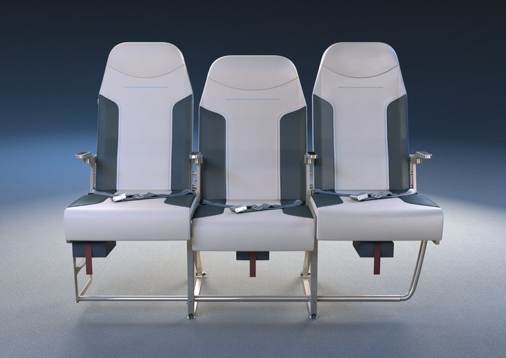 A staggered layout allows the middle seat to be wider.
