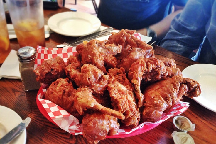 The fried chicken at Willie Mae's Scotch House