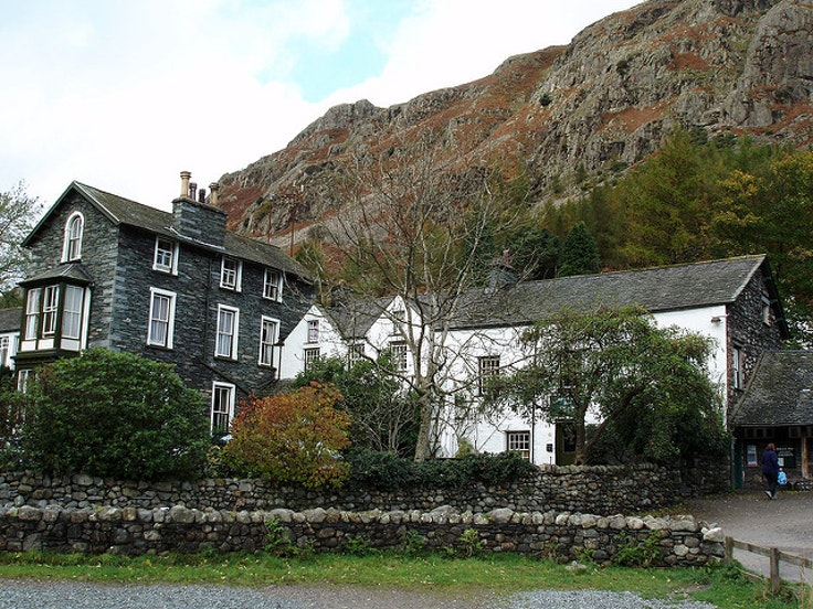 Old Dungeon Ghyll Hotel in England's Lake District.