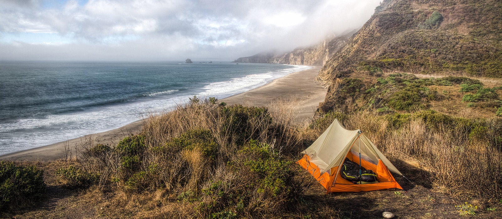 Enjoy sweeping views of the Pacific when you camp along California's coast.