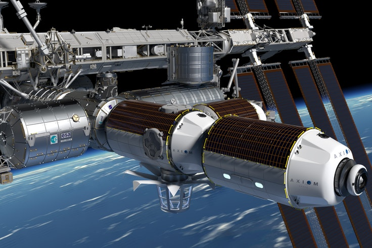 What the Axiom Node and Axiom Habitation Module will look like once connected to the International Space Station