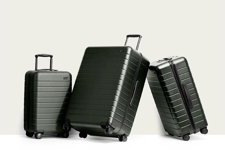 Away smart suitcases come in a variety of sizes and colors.