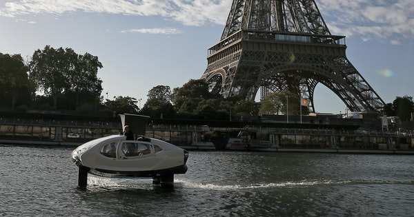 "Paris Testing Eco-Friendly Water Taxis Dubbed ""Seabubbles"""