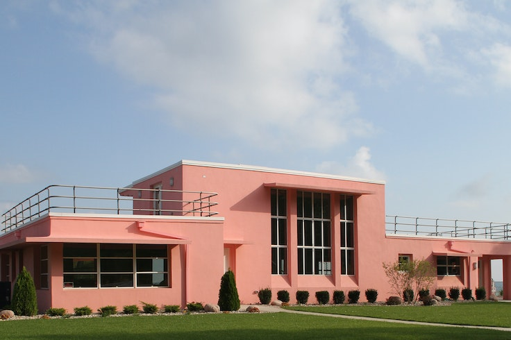 The Florida Tropical House is one of five model homes plucked from Chicago's 1933 World's Fair site and placed in what's now Indiana Dunes National Park.