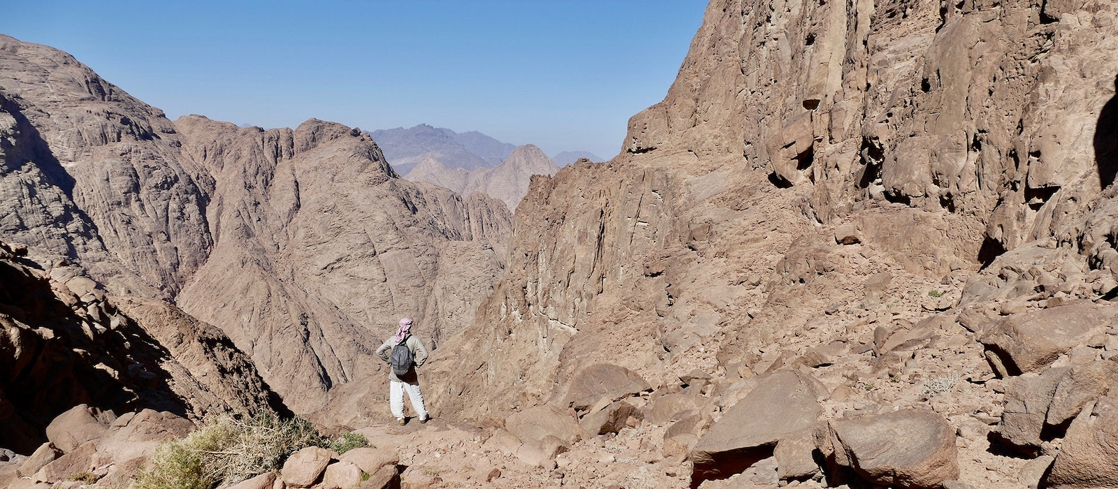 ABedouin guide on Jebel Gattar, a mountain in Egypt's Red Sea range