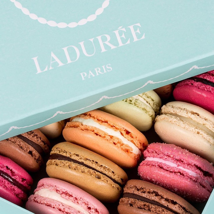 Ladurée debuted a new macaron shop, which features limited-edition flavors.