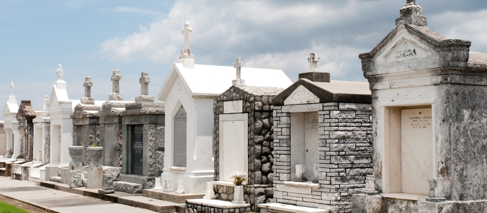 Cemeteries in New Orleans are famous for their above-ground architecture.