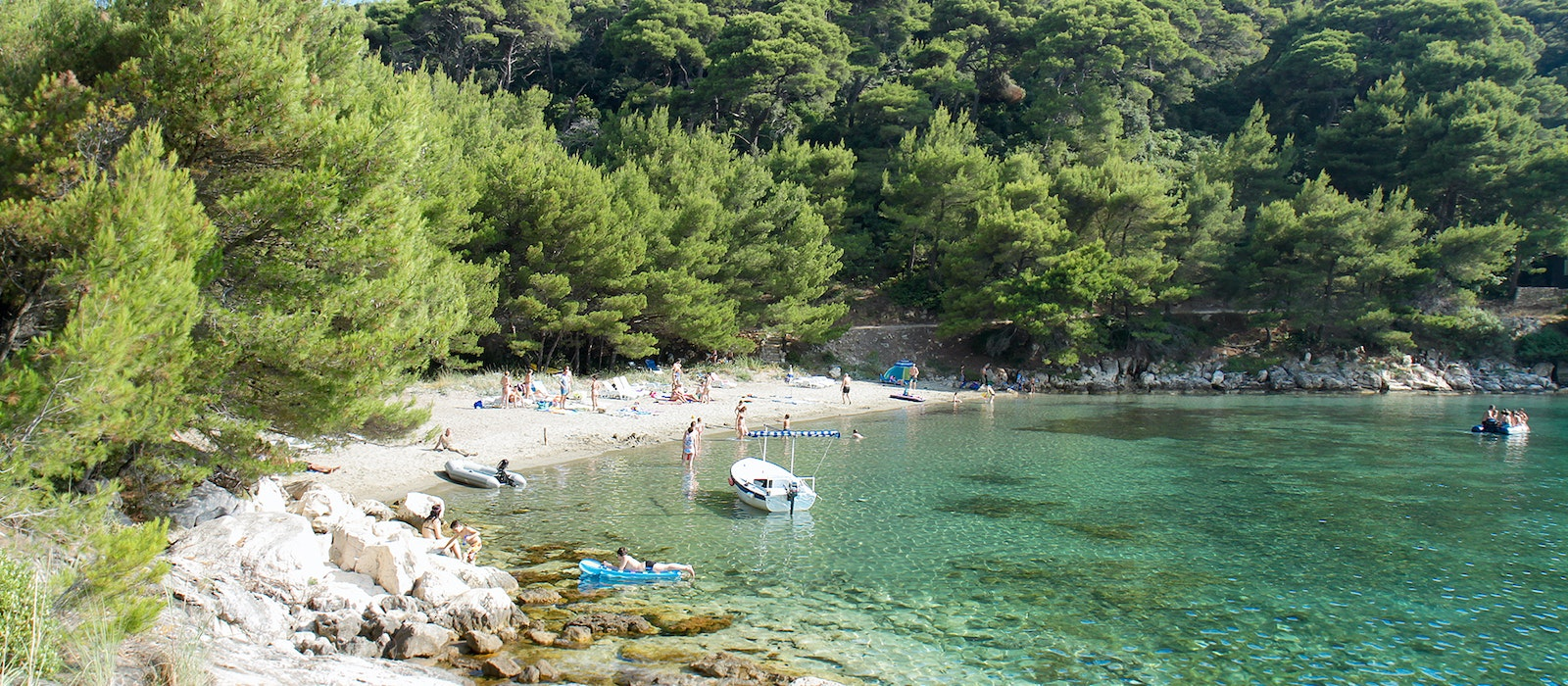 Saplunara beach, on Croatia's Mljet island, known for its saltwater lakes and juniper forests
