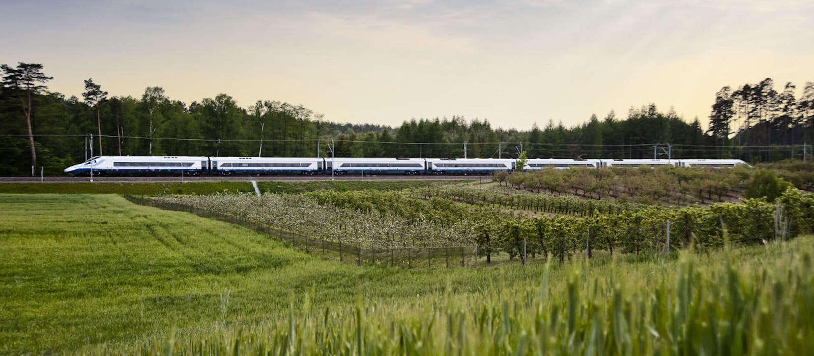 Eurail Passes can be used on high-speed trains, too, like this one in Poland.