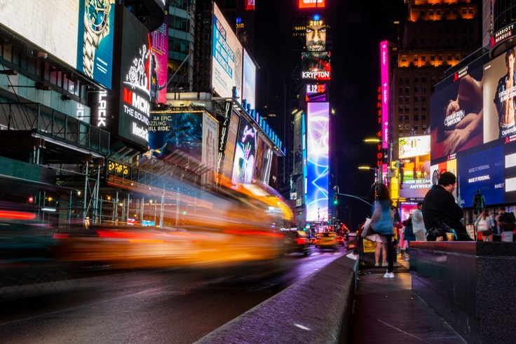 In June 2018 alone, more than 400,000 pedestrians visited Times Square in New York City.