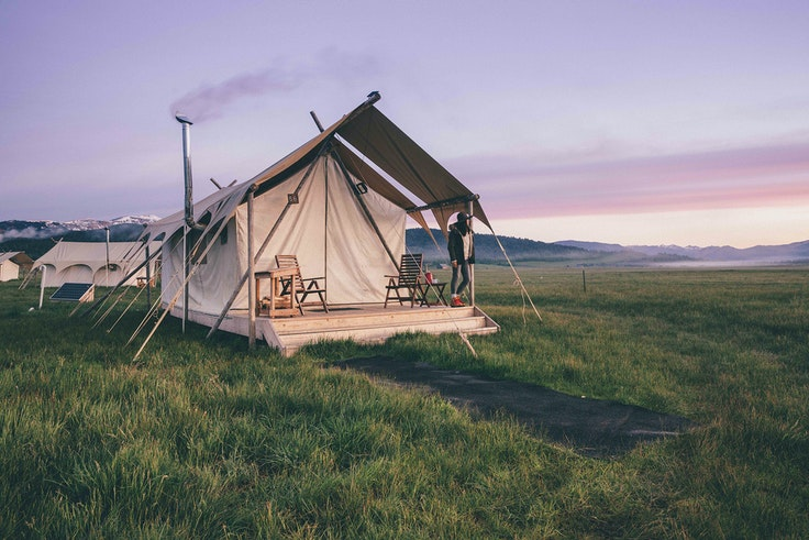 Sleep luxuriously near Yellowstone National Park with glamping expert Under Canvas.