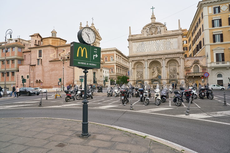 There are currently more than 40 McDonald's in the Italian capital.