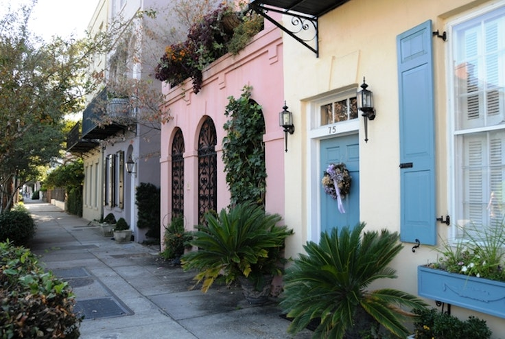 Some of the colorful architecture in Charleston, South Carolina