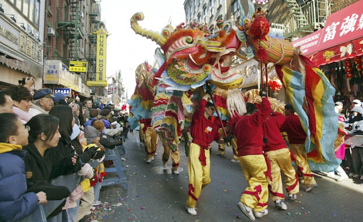 The Chinese New Year parade in NYC