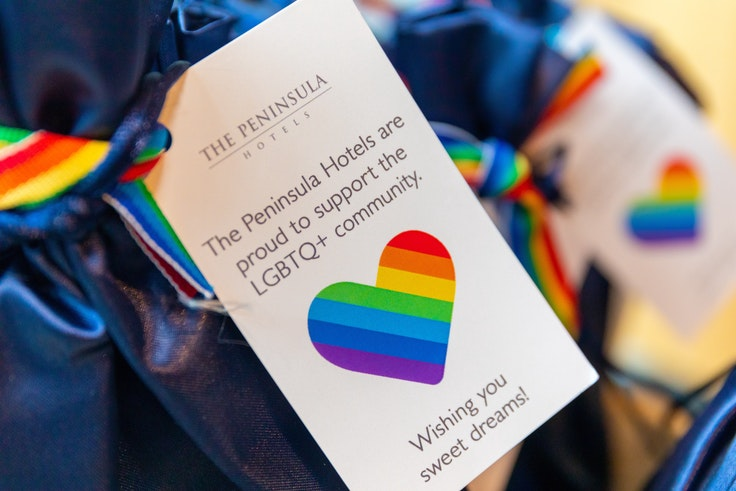 Luxury hotels show their support for LGBTQ travel.