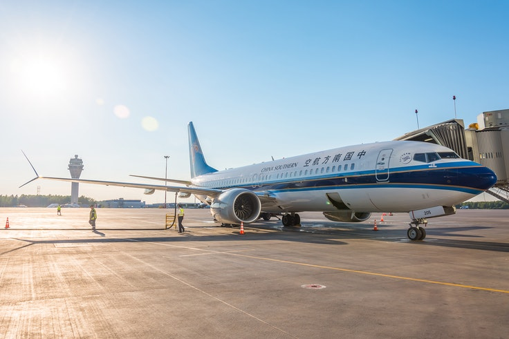 Chinese authorities have grounded the country's Boeing 737 Max 8 aircraft, such as the one pictured, after a deadly crash in Ethiopia.