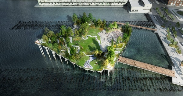 "A ""Floating Park"" Called Little Island Is Coming to New York City's Hudson River"