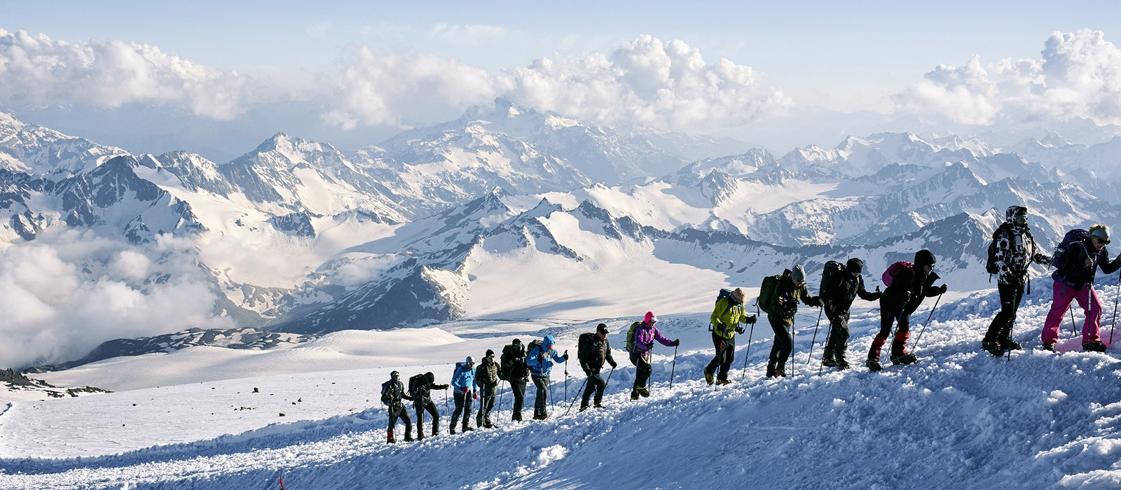 Europe's tallest peak is not in the Alps, but in the Caucasus mountains. Mount Elbrus towers at 18,510 feet, making it one of the Seven Summits—the tallest mountains on each continent.