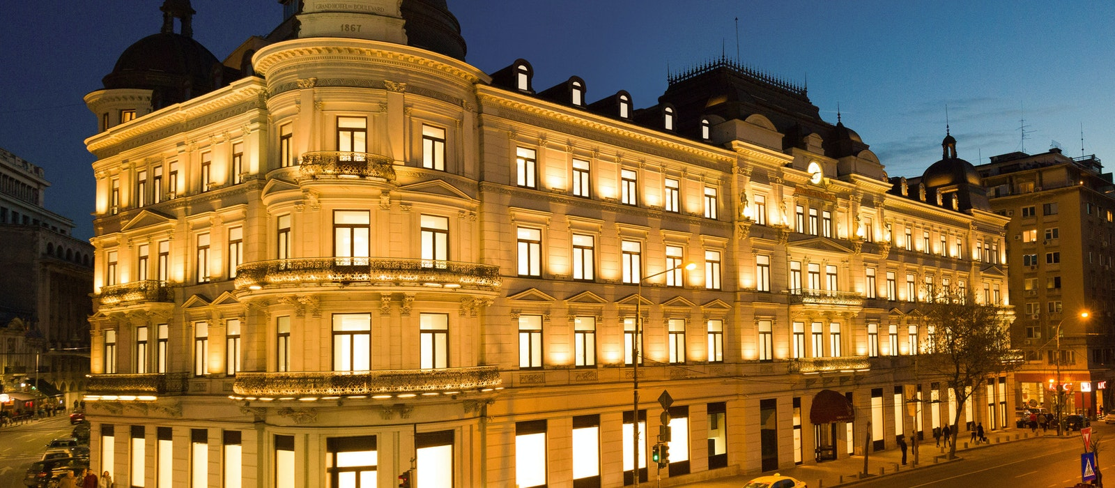 The Grand Hotel du Boulevard reopens as the Corinthia Bucharest in Romania in 2019.
