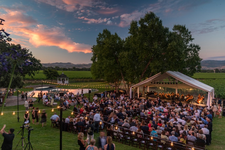 Festival Napa Valley puts on concerts (many of which are free) at venues across Napa Valley.
