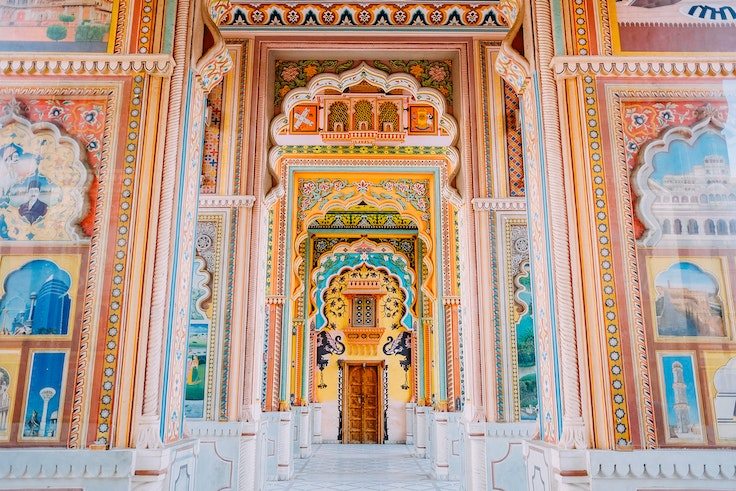 The elaborate Patrika gate to the walled city of Jaipur, one of 29 sites added to the UNESCO World Heritage List in 2019