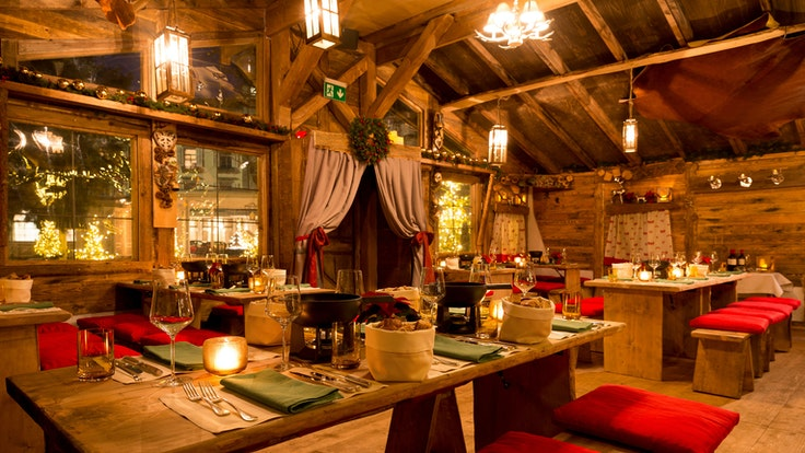 How about a Alpine feast at the rustic Chalet au Lac, followed by midnight fireworks over Lake Zurich?