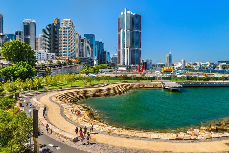 Nawi Cove is on the edge of the Barangaroo Reserve. The park is named after a 19th-century Aboriginal heroine.